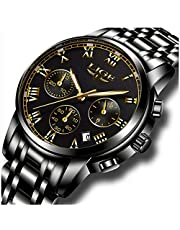 LIGE Uhren Herren wasserdichte Edelstahl Chronograph Sport Analog Quarzuhr Männer Luxusmarke Mode Armbanduhr Mann
