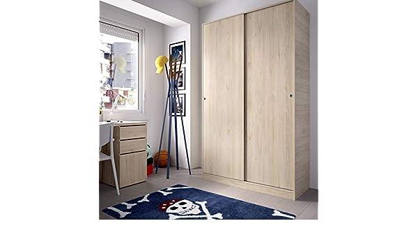 HOMEKIT Armario 2 Puertas correderas, Natural, 120x204x50cm: Amazon.es: Juguetes y juegos
