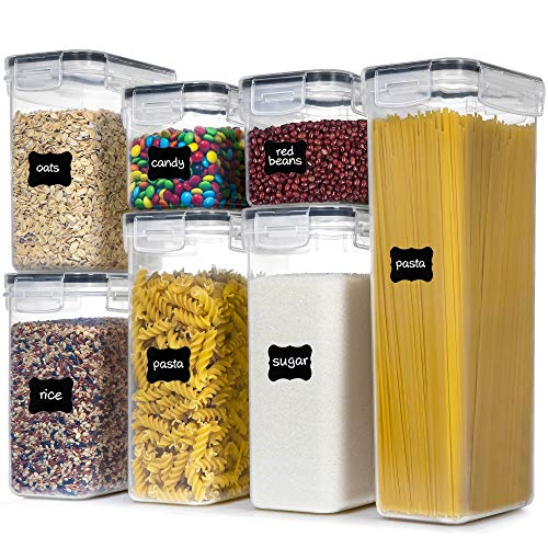 Airtight Food Storage Containers With Lids, PantryStar 7 PCS BPA Free Kitchen Storage Containers for Spaghetti, Pasta…
