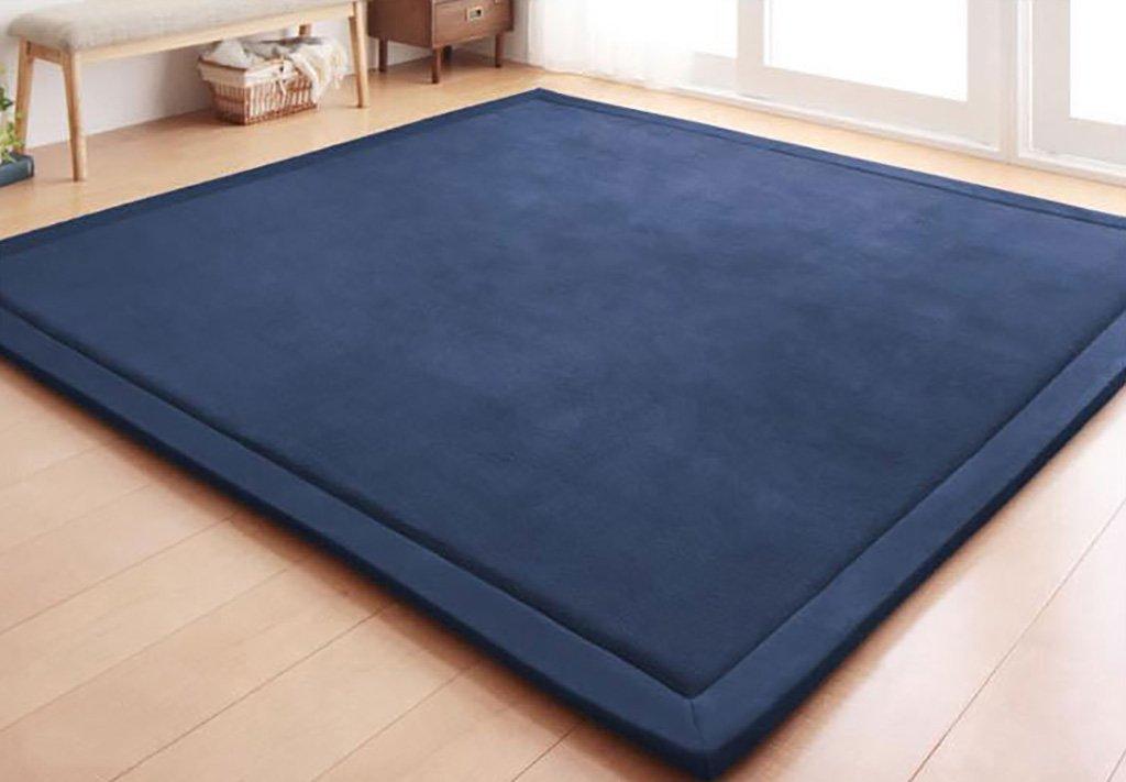 SESO UK- Tapis épais de Molleton de Corail de Tapis épais de Couleur pour Le Salon de Chambre à Coucher (Couleur : Bleu Marin, Taille : 200 * 280cm)