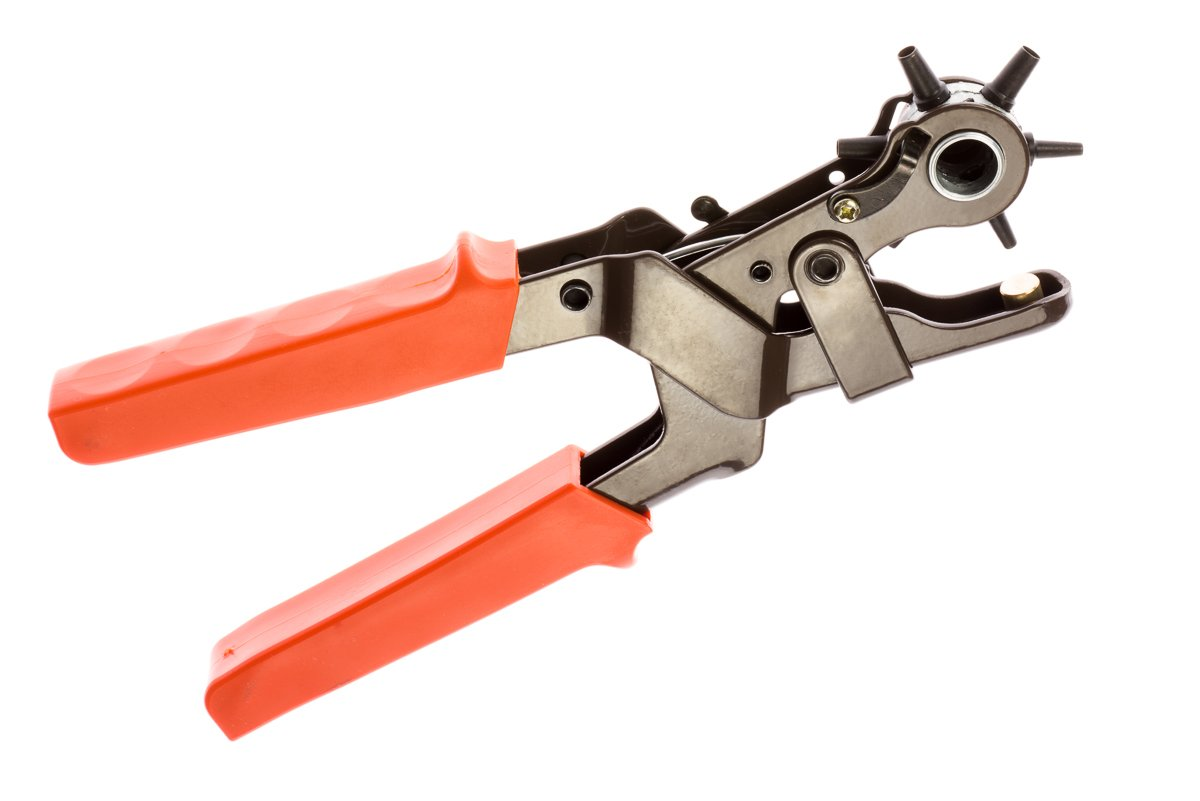 SE 7924LP Heavy-Duty Revolving Leather Hole Punch Tool by SE