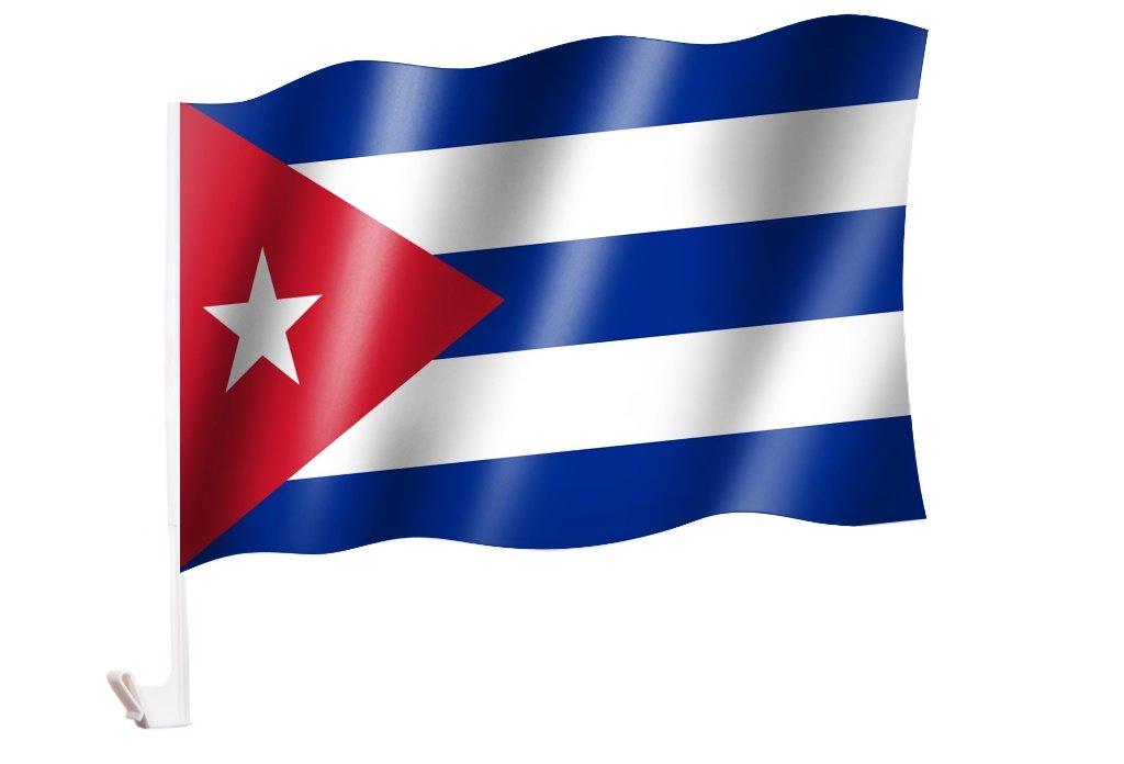 Autoflagge//Autofahne Kuba//Cuba