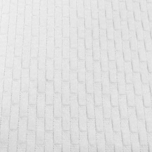 USA Made Premium Quality 100% Cotton Waffle Weave Fabric (Wholesale Price by the bolt) - White - 20 Yards ()