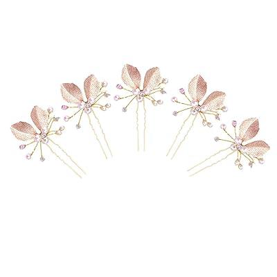 Gazechimp 5 Piezas Pasadores de Pelo de Perlas de Imitación Adornos Decorativos para Pelo de Novias de Fiesta de Noche: Juguetes y juegos