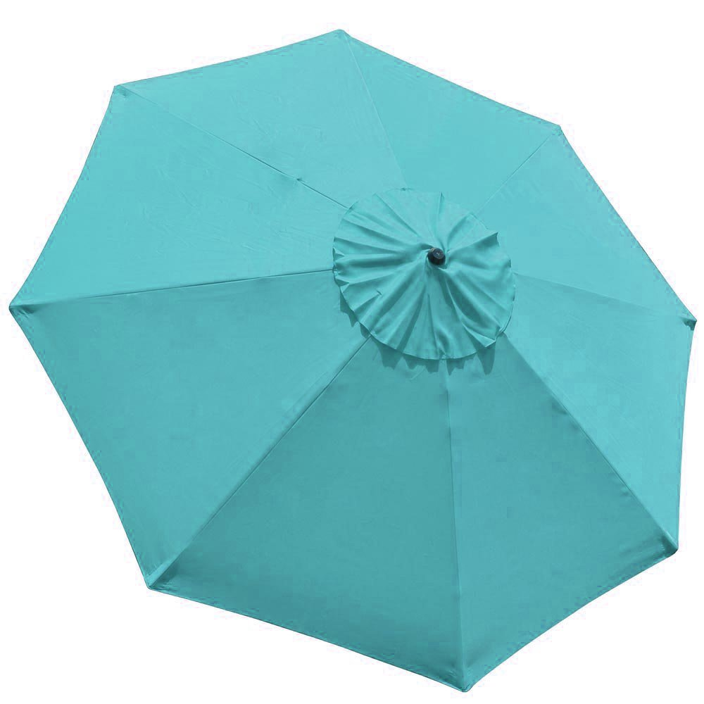 EliteShade 9ft Patio Umbrella Market Table Outdoor Deck Umbrella Replacement Canopy (Turquoise) by EliteShade (Image #1)