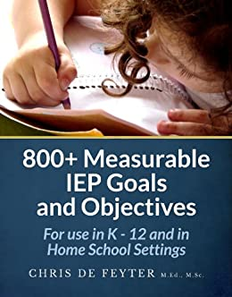 Amazon 800 measurable iep goals and objectives for use in k 800 measurable iep goals and objectives for use in k 12 and in home fandeluxe Images