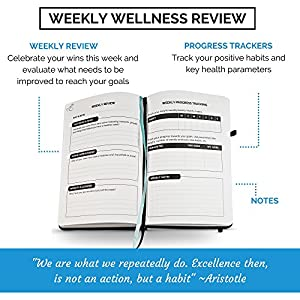 Food Journal & Fitness Diary with Daily Gratitude and Meal Planner for Healthy Living and Weight Loss