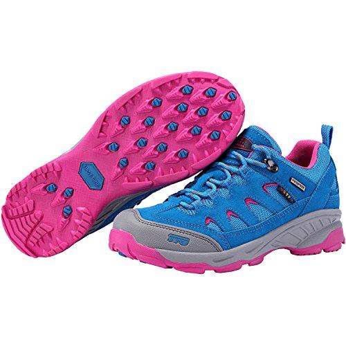 La Prima Scarpa Da Trekking Per Donna Outdoor Antiscivolo Scarpe Da Trekking Da Trail Running Traspiranti 8.5 Ci Azzurro