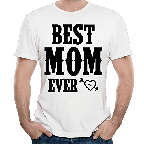 Wons T-Shirt Best Mom Ever Mug Men's Round Neck Fashion Casual Graphic Short Sleeve Tees Tops