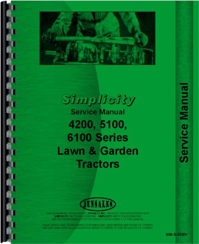 Simplicity 6100 Lawn and Garden Tractor Service - Tractor Simplicity Garden