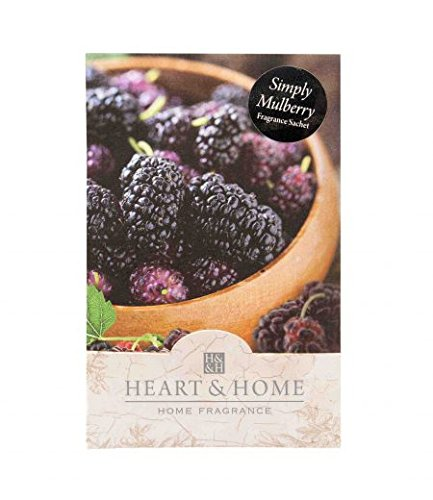 Pack of 6 Heart and Home Simply Mulberry Large Scented Fragrance Sachet with Hanger