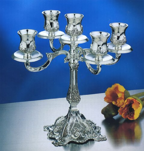 5 Branch Silver Plated Candelabra