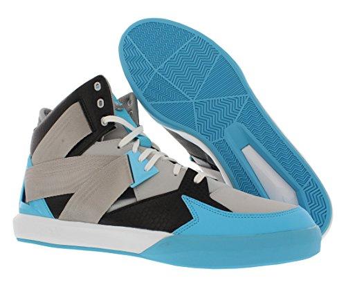 Scarpe Da Basket Adidas C-10 Taglia Grigio / Blu / Nero