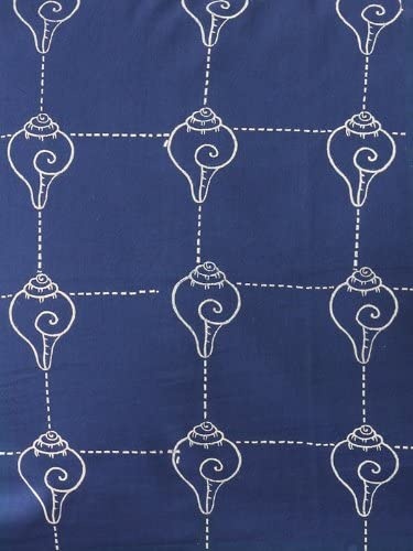 Pacific Blue CP Rustic Navy Ocean Asian Window Valance 46×17
