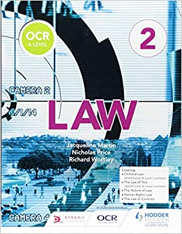 OCR A Level Law Book 2: Amazon co uk: Jacqueline Martin