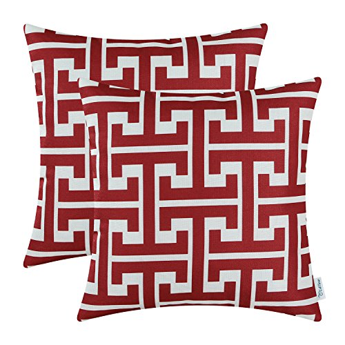 Pack of 2 CaliTime Cushion Covers Throw Pillow Cases Covers