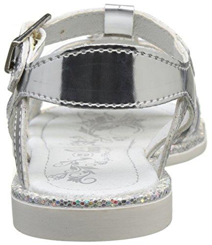 Primigi Mädchen PFC 7206 Peep-Toe Silber (Argento)