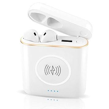 LICIDI Carga Inalámbrica del Tesoro De Carga De Los Auriculares Inalámbricos De Bluetooth 3-In