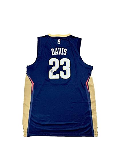 Image Unavailable. Image not available for. Color  Anthony Davis  Autographed Signed New Orleans Pelicans Away Blue Jersey Memorabilia JSA 23ef31612