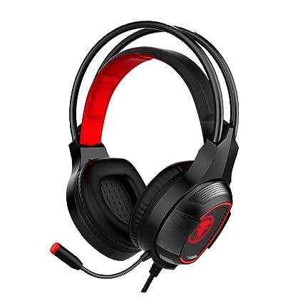 Cascos Auriculares Gaming con Micrófono, JIEJIEWYD sonido envolvente Auriculares Gaming (para PC, Xbox