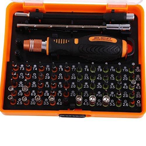 ADSRO 53 in 1 Multi-Bit Precision Torx Screwdriver Repair Kit Tools For Phone Computer Laptop PC Hard Drive Printer Shaver (Printer Repair Kit compare prices)
