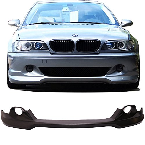 Lip Front E46 (Front Bumper Lip Fits 2004-2006 BMW E46 3-Series | AC Style Unpainted PU Front Lip Finisher Under Chin Spoiler Add On by IKON MOTORSPORTS | 2005)