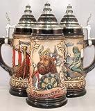 Denmark Viking Ship German Beer Stein 1/2L ONE Mug Made in Germany New