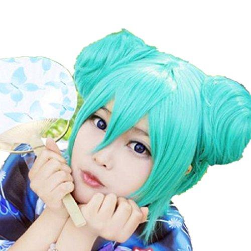 Vocaloid Hatsune Miku Green Cosplay Costume Wig