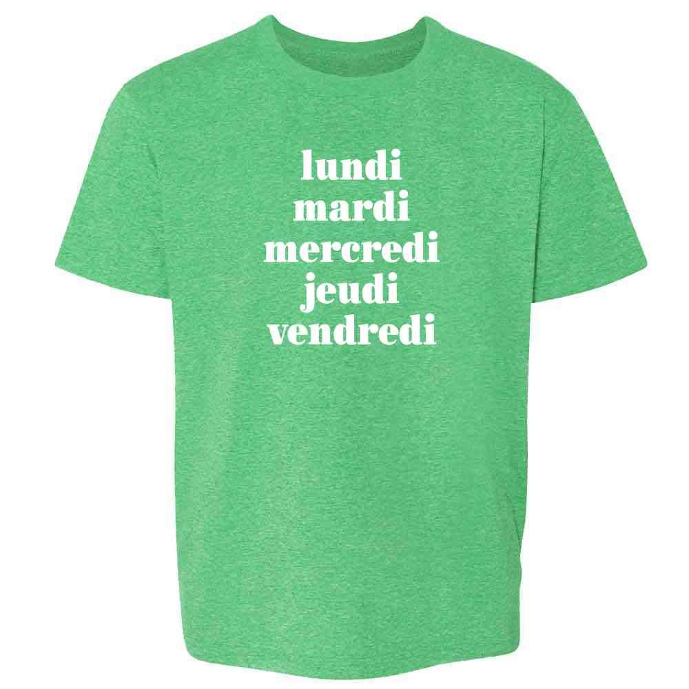 Days Of The Week In French T Shirt 8043