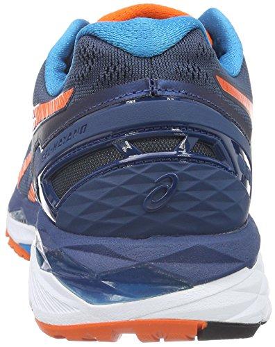 Asics Gel-Kayano 23, Zapatillas de Running para Hombre Azul (Poseidon/flame Orange/blue Jewel)