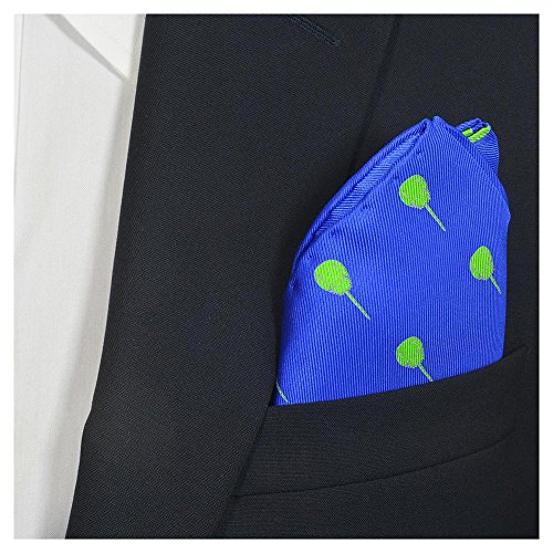 SummerTies Horseshoe Crab Pocket Square - Blue, Printed Silk from SummerTies
