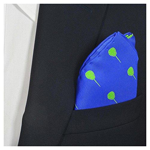 (SummerTies Horseshoe Crab Pocket Square - Blue, Printed Silk)