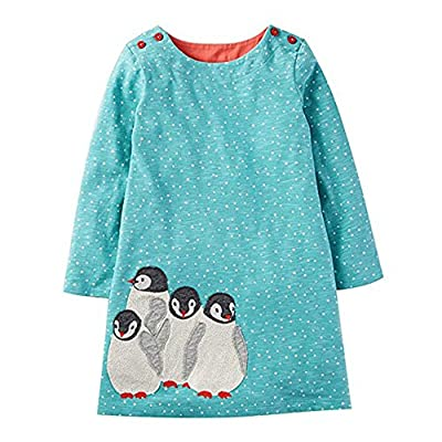 Jumping Meters Girls Dresses Long Sleeve with Animal Appliques Princess Dress Girls Clothes 18M-6Y