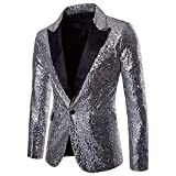 Clearance Sale! 2018 Wintialy Charm Men's Casual One Button Fit Suit Blazer Coat Jacket Sequin Party Top