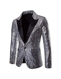 Dress Suit for Men, 2019 Men's Casual Suit Jackets Sports Coats One Button Fit Suit Party Top Stylish Blazer Dress Suit
