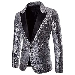 Men's Sequin Casual One Button Fit Suit