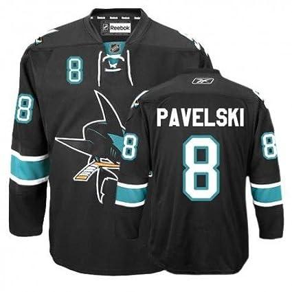 6784da3e Amazon.com : Reebok San Jose Sharks 8 Joe Pavelski Black Authentic Third  Jersey : Sports & Outdoors