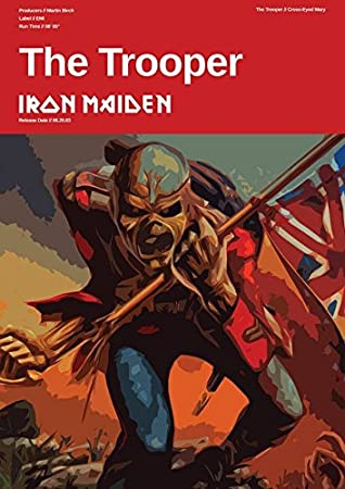 Amazon com: Iron Maiden - The Trooper - Custom Band Poster