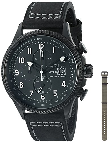AVI-8-Mens-AV-4036-05-Hawker-Hunter-Analog-Display-Japanese-Quartz-Black-Watch