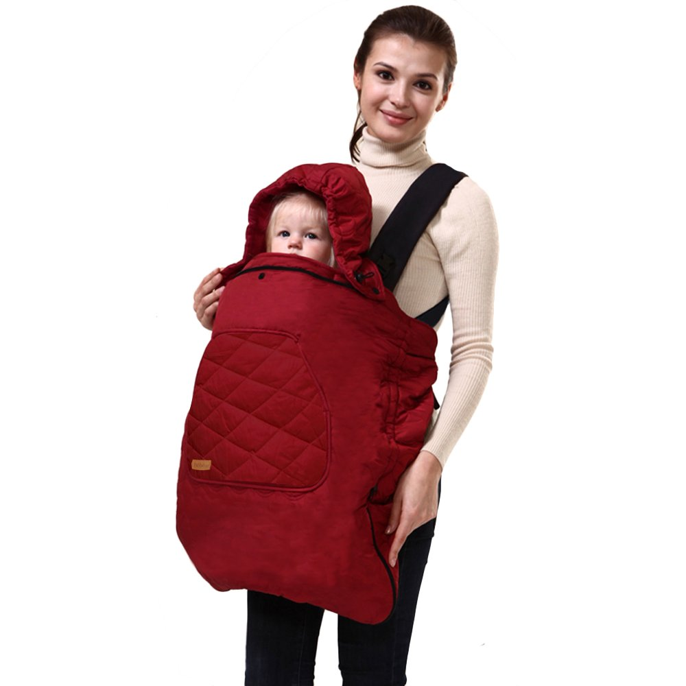 Bebamour Universal Hoodie All Season Carrier Cover for Baby Carrier (Red) CAP0201