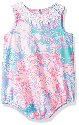 Lilly Pulitzer Baby Girls May Bodysuit Blue PERI Viva LA Lilly, -