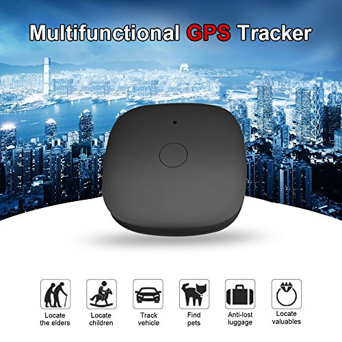 Keynice GPS Tracker Luggage Tracker GPS Locator GSM 2G Network Real time Tracking Monitoring Outdoor Handheld GPS Unit Mini Finder for the Elderly Kids Pet Car Motorcycle by App Control Black