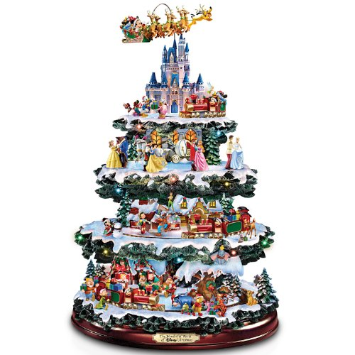 The Bradford Exchange Disney Tabletop Christmas Tree: The Wonderful World of Disney