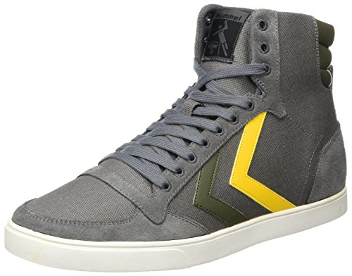 Calabrone Unisex Adulto Magro Stadil Duo Canvas High High Sneaker Grigio (rock Castello)