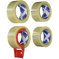 4-Pack Sparco Packing Tape with Dispenser