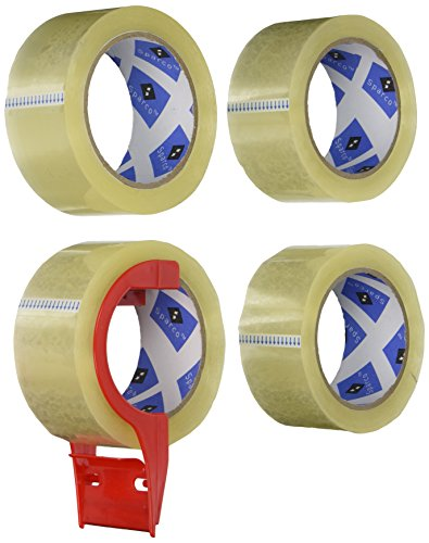 sparco-packing-tape-with-dispenser-3-inches-core-30mil-2-x-55-yards-4-per-pack-cl-spr64011