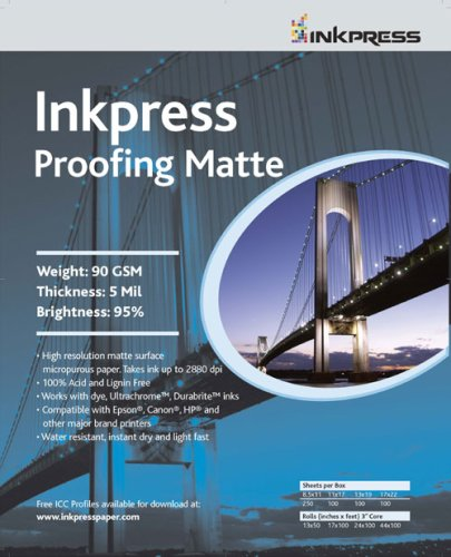 (Inkpress Inkjet Proofing Matte Photo Paper Roll 24x100)