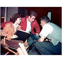James Dean Smoking on Set with Others 8 x 10 Inch Photo