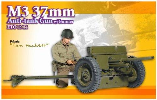 37 Mm Anti Tank - 1/6 M3 37mm Anti-Tank Gun with Gunner Eto 1944,