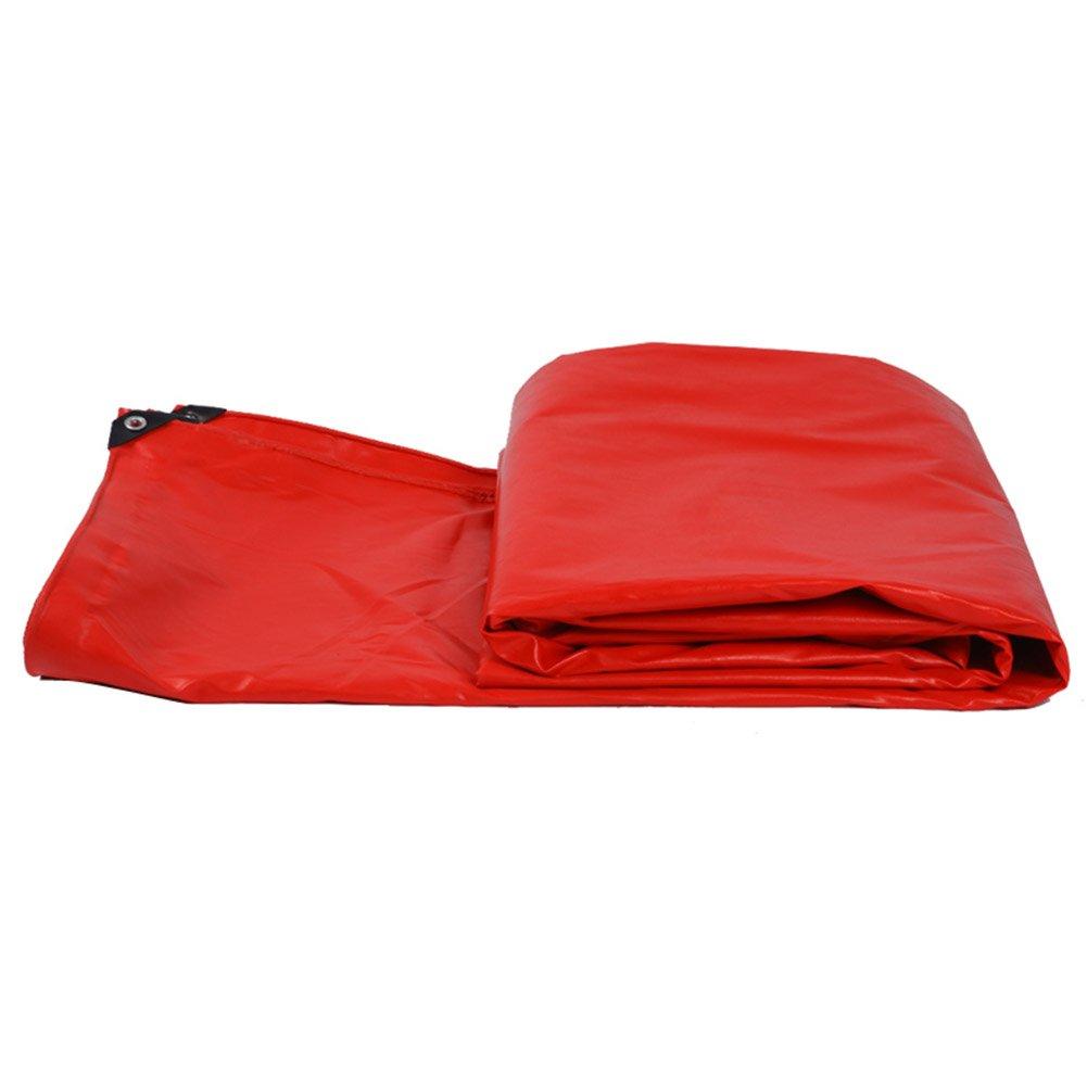 LIANGJUN 防水性のある ターポリン 日よけ布 アウトドア キャンバス PVCプラスチック被覆 オーニング 550g/m² カスタマイズ可能、 11サイズ、 赤 (サイズ さいず : 4X6m) B07CVZQQQ6 13565 4X6m  4X6m